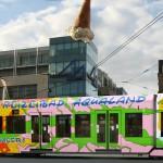 Die Aqualand- Strassenbahn im täglichen Einsatz in Köln