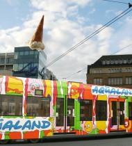 Aqualand – Werbestraßenbahn Köln 2009
