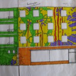 "Entwurf Fassadenfront ""Buntes Haus"" Regensburg"