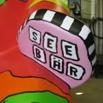 """""""Seebär""""- Schriftzug auf der Unterseite der Tatze"""