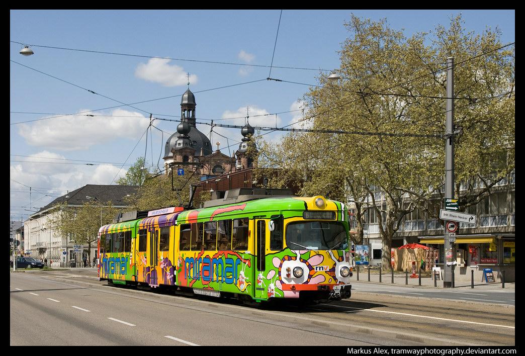 Miramar Strassenbahn in Mannheim
