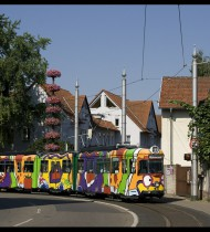 "Heidelbergs ""Bunte Straßenbahn""  2003"