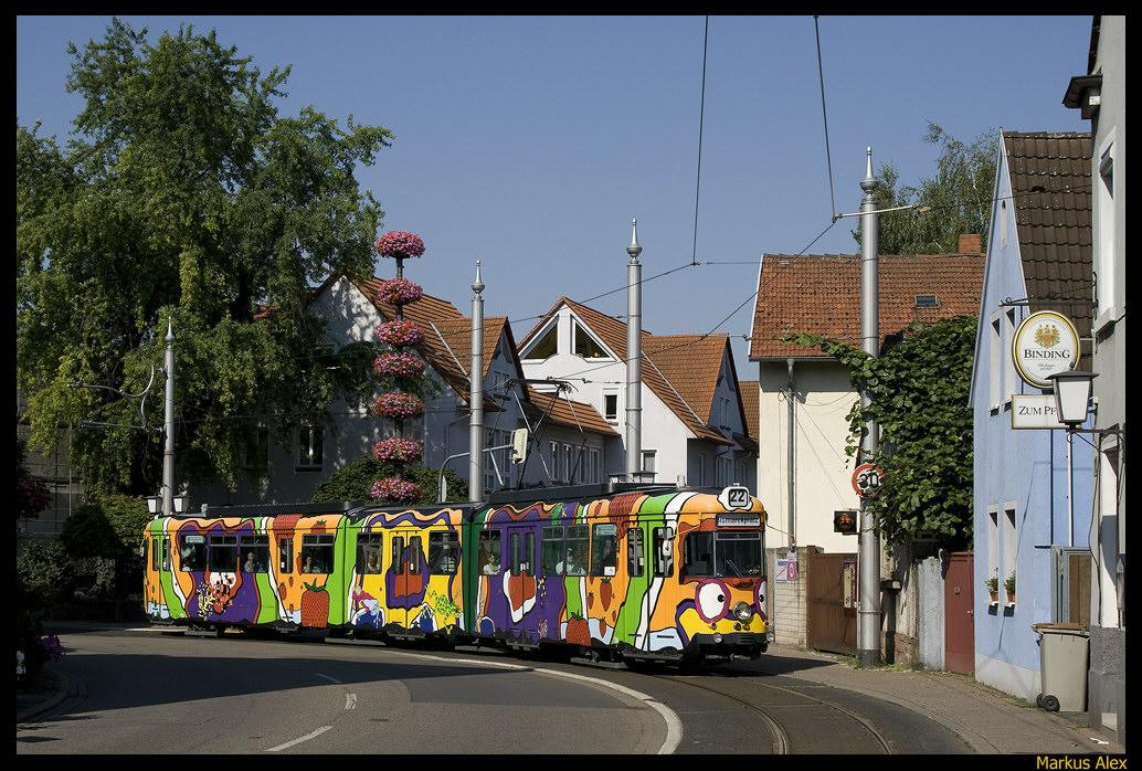 """Bunte Strassenbahn"" in Kirchheim/ Heidelberg"