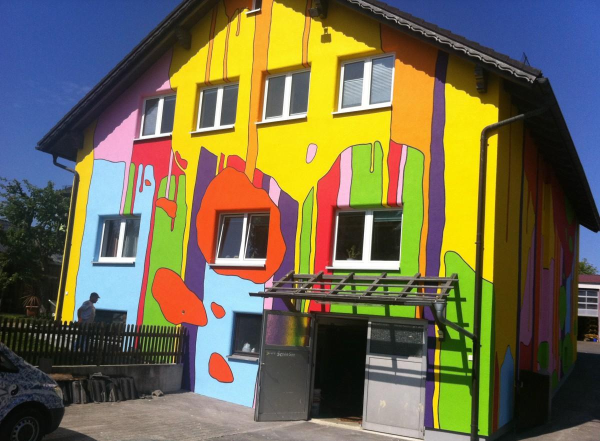 Rückseite Wohn u. Geschäftshaus Bärnau