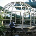"""Die """"Dachstuhlkonstruktion"""" der Kuppel"""