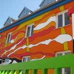 Künstlerische Gebäudegestaltung