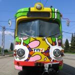 Werbestraßenbahn Freizeitbad Miramar