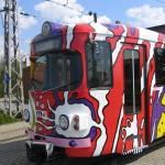 Straßenbahnwerbung