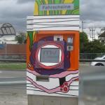 Verarzteter Fahrscheinautomat Mannheim Waldhof...muss nicht mehr kaputt gemacht werden...ist bereits verprügelt