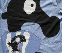 """T- Shirt hellblau """"Seepferdchen bei Nacht"""" 2012"""