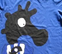 """T-Shirt dunkelblau """"Seepferdchen bei Nacht"""" 2012"""