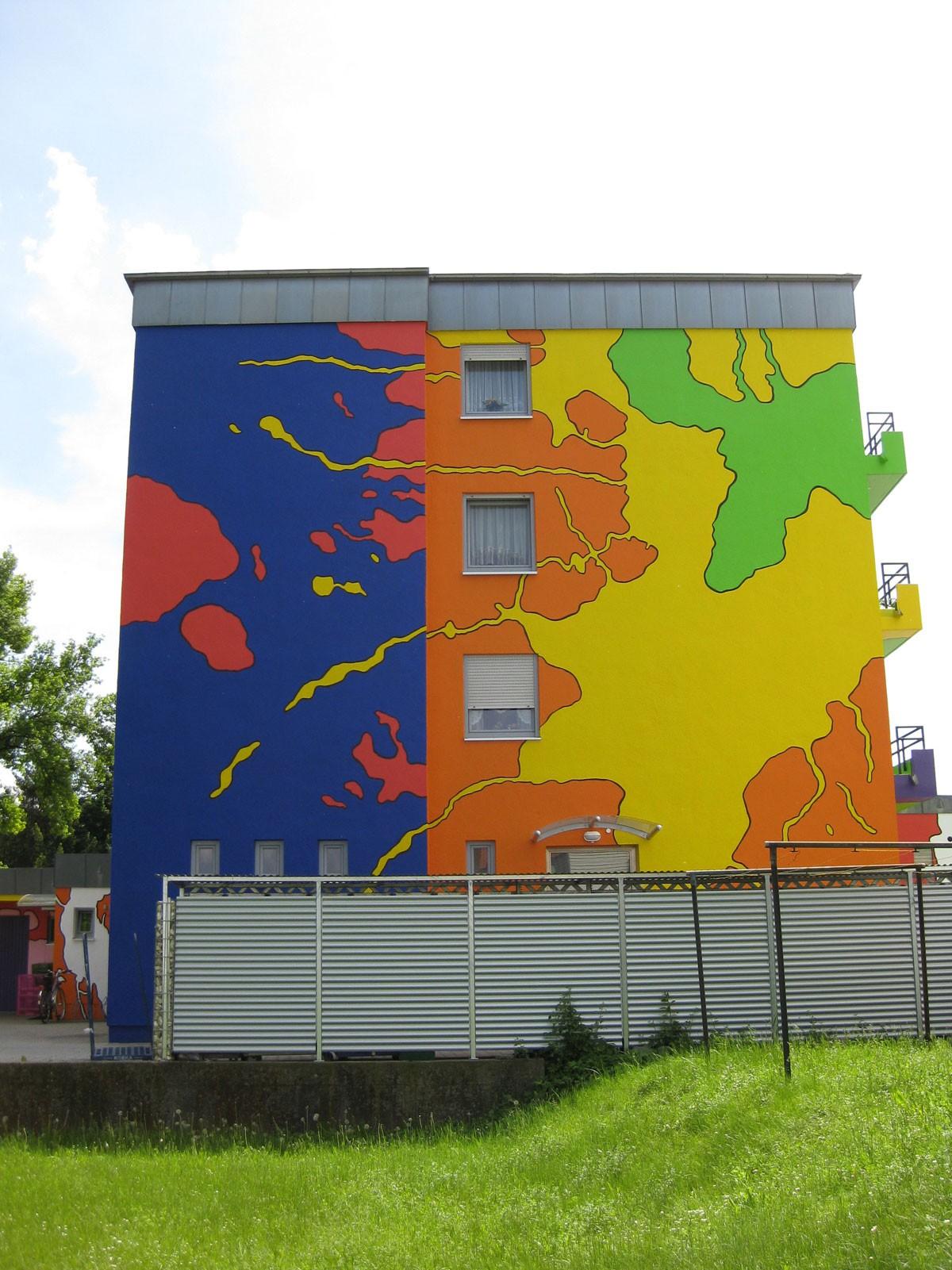 Seitenansicht Buntes Haus Regensburg 2009